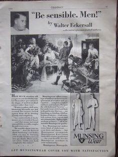 Walter Eckersall, Munsingwear