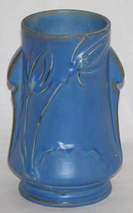 Teasel blue vase
