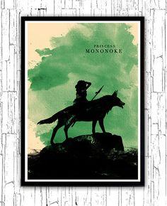 Hayao Miyazaki Poster Set: (8 Poster) https://www.etsy.com/listing/197644954/hayao-miyazaki-minimalist-movie-poster?ref=shop_home_active_1  Hayao