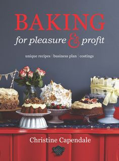 Baking for pleasure & profit - This book is for anyone who bakes and sells or simply wants to learn the tips and tricks from a professional. Chapter one is about the business part of home baking. There are more than 90 unique recipes with variations and creative ideas to help turn them into signature products. It contains short cuts, tips, and proven results rarely found anywhere.  Recipes suitable for home industries, catering and famers markets.