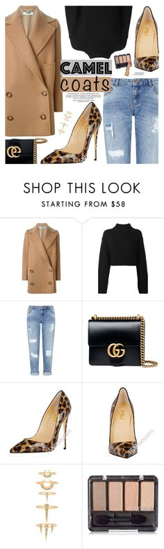 """""""Wear a Camel Coat"""" by oshint ❤ liked on Polyvore featuring STELLA McCARTNEY, DKNY, Miss Selfridge, Gucci, Luv Aj, Chanel, shoes and fsjshoes"""