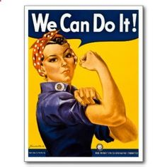 Rosie the Riveter We Can Do It Vintage Post Cards are great collectibles. They are available here: rosietheriveterwe...
