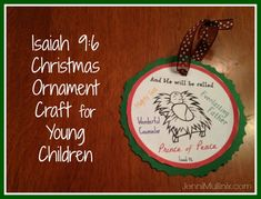isaiah 9:6 diy christmas ornament - super easy and a perfect craft for toddlers and preschoolers