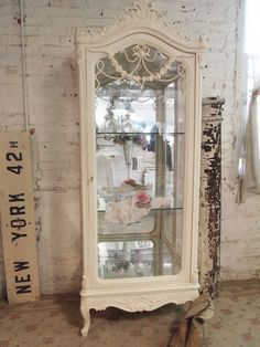 Painted Cottage Chic Shabby Chic China Cabinet [CC51] - $1,095.00 : The Painted Cottage, Vintage Painted Furniture
