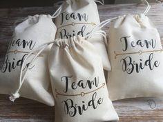 Team Bride favor bags bachelorette party favor by EverlongEvents