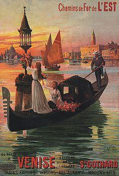 ¤ Chemins de Fer de l'Est - de Paris à Venise.