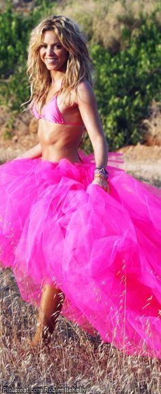 Shakira in a Pink tutu