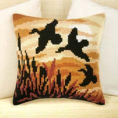 Cross-stitch cushion Orchidea 9127 - Kadife Kraft