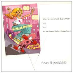 https://knibbli.com/de/einladungen/265-einladungskarte-mit-umschlag-geburtstag-002.html  #Einladungskarte #Klappkarte #Geburtstag 002  Größe ca 10,5 cm x 15 cm  mit #Umschlag #Karte #Motiv #Girl #Mädchen auf #Skateboard  Preis je 1 Stück #Klappkarte inklusive Umschlag  #Einladung #Geburtstag #Feier #Party