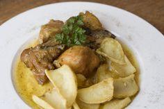 Pollo con patatas. www.restauranteespadana.es