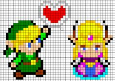 Make for Jeff. Leah's Knits: Zelda and Link chart