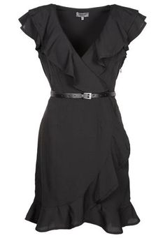 Black Ruffle Dress - need to make this style dress in a few colors...so cute.