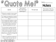 """""""Holes"""" MEGA Activity Packet: A Novel Study of the book by Louis Sachar from Joy in the Journey on TeachersNotebook.com"""