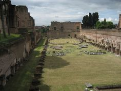 Domitian's private circus, Domus Augusta, Palatine Hill area [Roma, Italy] by mls559, via Flickr