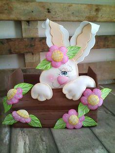 Felt Crafts Diy, Bunny Crafts, Clay Crafts, Easter Crafts, Spring Crafts, Holiday Crafts, Easter Celebration, Hoppy Easter, Frame Crafts