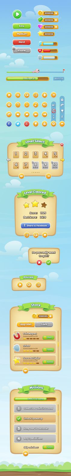 Dribbble - Mobile-Game-GUI-full.jpg by Raul Taciu