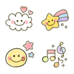 Small Drawings, Cute Drawings, Journal Stickers, Scrapbook Stickers, Doodles Bonitos, Star Doodle, Doodle Art Journals, Cute Love Cartoons, App Icon Design