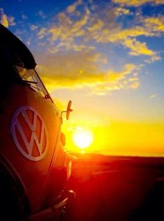 vw bus and sun