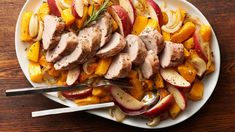 This delicious rosemary and sage pork tenderloin dinner is ready in just 45 minutes for a quick weeknight meal.
