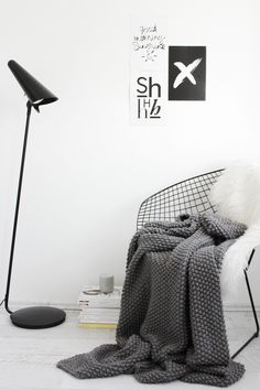 Ikea Stockholm lamp, diamond chair, Menu cup with lid, white interior, Scandinavian interior, Nordic interior frichic.com
