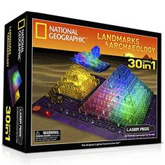 Laser Pegs National Geographic Landmarks and Archaeology Building Kit � The Toy Shop