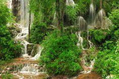 Gorman Falls at Colorado Bend State Park in Bend, TX