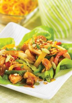 Barbequed Chinese Chicken Lettuce Wraps