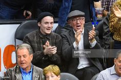 Anton and his dad, Viktor, at a basketball game between San Antonio Spurs and the Los Angeles Clippers, Feb 2015