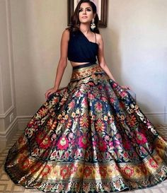 dresses indian lehenga Authentic Indian banarasee floral brocade lehenga with velvet top & Georgette dupatta heavy lengha designer lengha lehenga choli lehenga set Indian Lehenga, Brocade Lehenga, Banarasi Lehenga, Sari, Western Lehenga, Sabyasachi, Indian Fashion Dresses, Indian Bridal Outfits, Indian Gowns Dresses