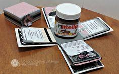 APeeling Paper Crafts: #ClubScrap March Blog Hop - Paris Flea Market #nutella #explosionbox