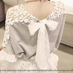 Buy 'NANING9 – Lace Inset Tie-Back Top' with Free International Shipping at YesStyle.com. Browse and shop for thousands of Asian fashion items from South Korea and more!