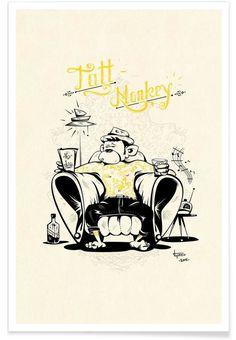 Tatt Monkey als Premium Poster von Itchi5 | JUNIQE