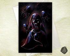 Carte de voeux Amitié Anniversaire Dark Vador Méduses Star
