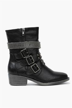 Harper Short Boots in Black