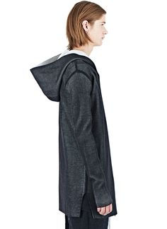 Rick Owens Hooded Woven Cardigan