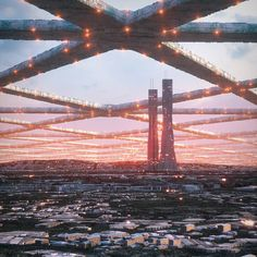 Architectural design renders that give us a glimpse into the future of humanity Fantasy Places, Sci Fi Fantasy, Fantasy World, Landscape Concept, Fantasy Landscape, Arte Sci Fi, Sci Fi City, Futuristic City, Cyberpunk Art