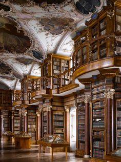 Abbey of St Gall Library, 1763. St Gallen, Switzerland