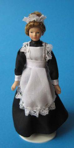Dienstmädchen Magd Personal für Puppenstube Miniatur 1:12 | c269450 / EAN:3597832694509