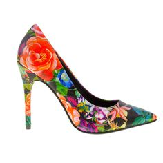 Neapolitan Pointy Toe Pump by Chinese Laundry. Treat yourself to the Neapolitan pointy toe pump featuring a floral print and stiletto heel. This is a closet must have. Perfect for any occasion, gorgeous pump to brighten up your outfit. http://www.zocko.com/z/JHikN
