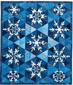 This snowflake quilt is perfect to remind us Kansans of Winter storm Q.