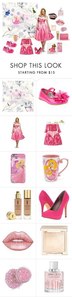 """""""Mom, daughter and the little bella."""" by chictochicfashionista ❤ liked on Polyvore featuring Disney, Yves Saint Laurent, Michael Antonio, Lime Crime, Jouer, Jimmy Choo and Tory Burch"""