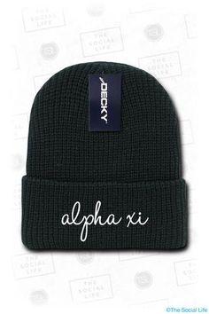 Alpha Xi Beanie