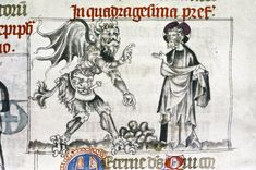 Detail of New Testament scene from Franciscan Missal, middle of 14th century