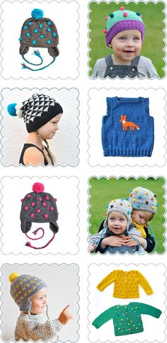 Sweet Meadowsweet Hand Knitted Slouch Beanies Hats Jumpers