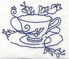teacup with flower