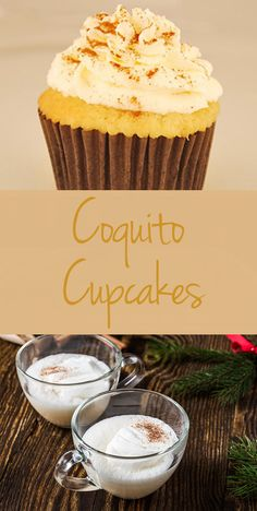 Coquito in cupcake form, courtesy of Brooklyn Cupcake!