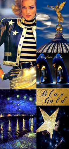 '' Blue & Gold '' by Reyhan S.D.