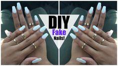 DIY: EASY FAKE Nails at HOME! (NO ACRYLIC) - YouTube