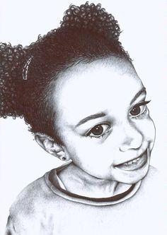 Portrait réalisé au stylo bille.