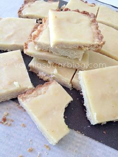Lemon Crunch Bars Recipe ~ sweet, tangy. crunchy goodness!